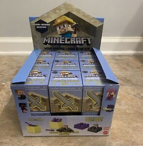 Full case 18 MINECRAFT Mini mining OBSIDIAN SERIES  18 Blind sealed boxes +case