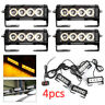 4PCS 4LED Auto Truck Recovery Strobe Flash Emergency Grille car emergency light