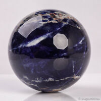 738g 83mm Large Natural Blue Sodalite Quartz Crystal Sphere Healing Ball Chakra