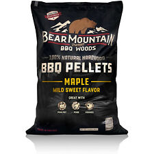 Bear Mountain BBQ 100% Natural Hardwood Maple Sweet Flavor Pellets, 20 Pounds