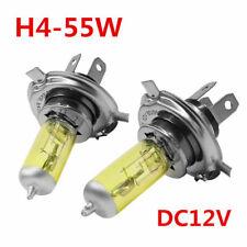 Car Xenon Headlights Lamp Bulbs Yellow Waterproof 2x H4 55W 5000K Gas DC 12V