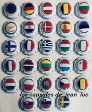 Série Champagne Génériques de 28 - Les Drapeaux des Pays de l'Union Européenne -