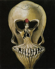 Ballerina in a Deaths Head  by Salvador Dali  Giclee Canvas Print  Repro