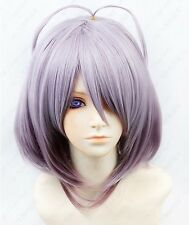 Amnesia Orion Short Gray Purple Pink Cosplay Wig Free shipping+wig cap