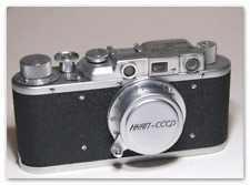 Art Camera FED NKAP Red Flag Replica. Russian Leica Copy RF camera