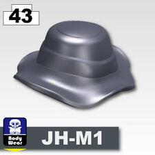 Dark Blue Gray Boonie Hat Cap for LEGO army military brick minifigures