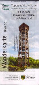 Wanderkarte Königsbrücker Heide - Laußnitzer Heide - Blatt 35 / 1:25 000
