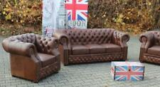 Chesterfield 3+2+1 Vintage Echtleder Sofagarnitur Oxford Sofa Couch Polster Sitz