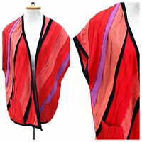 Vintage VTG 1970s 70s Hulda Bridgeman Handmade Red Duster Jacket Coat