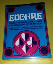 New Sealed EUCHRE Family Playing Card Game for Individual or Team Play Free Ship