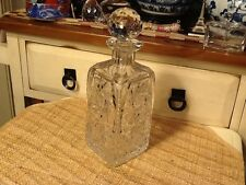 Vintage Intricate Cut Lead Crystal Whisky Liquor Decanter & Stopper Beautiful