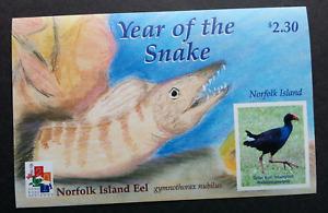 [SJ] Norfolk Island Year Of The Snake 2001 Bird Chinese Zodiac Lunar (ms) MNH