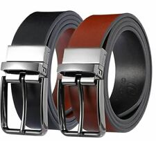 CIEORA Men's Belt Genuine Leather Casual Dress Fashion Reversible Buckle For 2 C