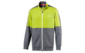 PUMA PWRWARM TRACK JACKET MENS FULL ZIP - 573264 Yellow NWT