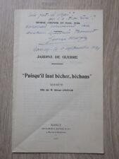 Brochure GEORGE CHEPFER JARDINS DE GUERRE 1917 avec dédicace de l'auteur
