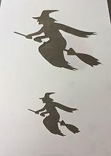 Bruja Halloween Mylar Plantilla Reutilizable Aerógrafo Pintura Arte Artesanía Bricolaje Casa