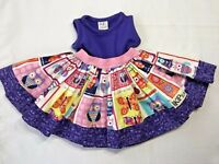 KPea Boutique Baby Girls 3-6 Months Purple Pink Owl Print Dress with Full Skirt