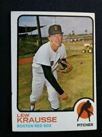 1973 Topps Baseball Card # 566 Lew Krausse - Boston Red Sox