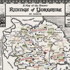 The Yorkshire Map - Fine Art Prints by Manuscript Maps