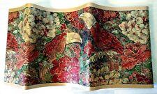 Wallpaper Border Tropical Bird Toucan Flowers Red Green Gold 7 in x 15 feet