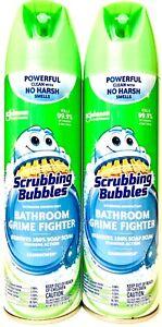 2 Scrubbing Bubbles 20 Oz Bathroom Grime Fighter Rainshower Removes Soap Scum
