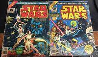 1977 Marvel Whitman Star Wars #1 & 2 Movie Treasury Special Edition Comic Books