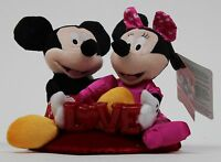 Disney 12 in Mickey & Minnie Mouse Love Lights Up Plush Stuffed Toy NWT