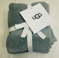 4 pc Ugg Wash Towels-100% Organic Cotton Face Cloths- 13� X 13�-Teal-Thick-Nwt