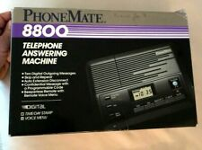 PHONEMATE Model 8800 Telephone Answering Machine - NEW IN BOX (opened) w Guide