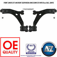 FORD FOCUS MK2 FRONT SUSPENSION 2 LOWER WISHBONE ARMS 21MM BALL JOINTS + BUSHES