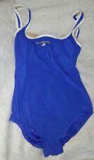 RARE Liz Claiborne VTG Swimsuit 80s 90s Blue Baywatch Sz 8 One Piece Swimwear