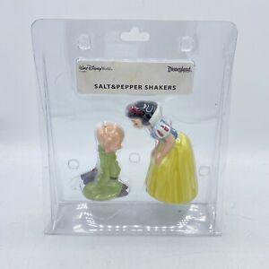 "Disney ""Snow White & The Seven Dwarfs"" Snow White & Dopey Salt & Pepper Shakers"