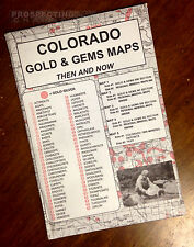 COLORADO Gold & Gems Maps Then and Now LOCATE Minerals Fossils