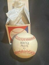 Vintage 1969 Seattle Pilots #1 - High Quality Horsehide Baseball in Original Box