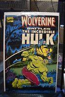 Wolverine Battles The Incredible Hulk Marvel Graphic Novel 180 181 1st Appearanc