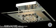 Diyas IL-IL30023 Delmar 4 Light Flush Polished Chrome Finish