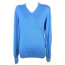 galvin green v-neck pullover men size medihm blue