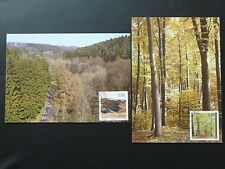 Europa Cept forest tree x2 maximum card Luxembourg 2011