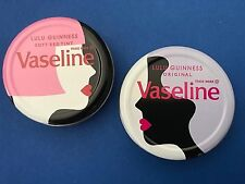 Rare Brand New Collectable Lulu Guinness x Vaseline Limited Edition Lip Balm x 2