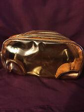 Golden/Bronzy vinyl cosmetic bag