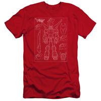 VOLTRON VOLTRON SCHEMATIC Licensed Adult Men's Graphic Tee Shirt SM-5XL