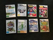 Nintendo Wii Games & Wii Fit Board + Fit Meter pedometer BUNDLE (See all photos)