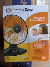 COMFORT ZONE CZ998 Oscillating Parabolic Dish Radiant Heater 3412BTU