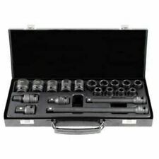 "Impact Socket Set Hexagonal Sockets Metric 19pc With Steel Case 1/2""Drive"