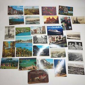 Lot of 28 - Vintage and Modern Postcards Written Hawaii Arizona Spain Colorado
