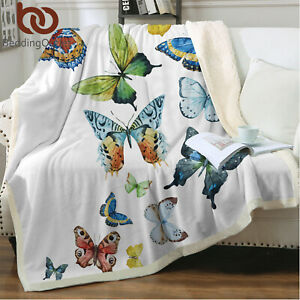homehot Blanket Storage Bags with Zippers Black and White,Butterfly Floral 70x50,Blankets for Baby