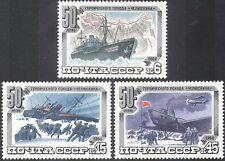 Russie 1984 Arctic/Navires/NAUFRAGE/Avions/Aéronefs/Rescue/carte/Transport 3 V Set b1186