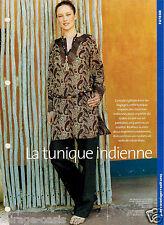 La Tunique Indienne. AVANTAGES Août 2003. Vintage Neuf non découpé.