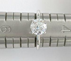 .950 Platinum Solitaire 6.50 mm Round CZ (Cubic Zirconia) Engagement Ring Size 5