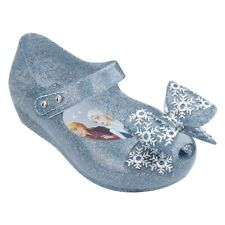 NWT MINI MELISSA Ultragirl Frozen BB Girl Baby Sandal Bow Glitter Silver 32851